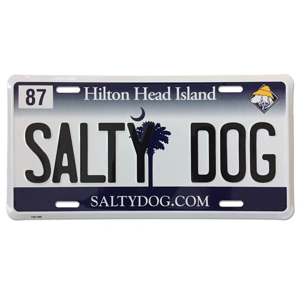 Salty Dog License Plate