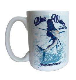 Salty Dog Coffee Mug Blue Water Sailfish