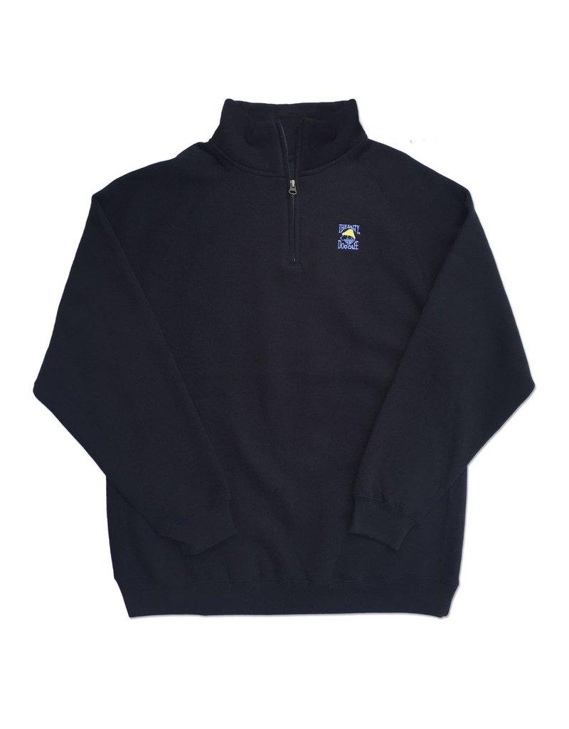 Sweatshirt 1/4 Zip Fleece in Black