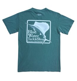 Bluewater Blue Water Comfort Colors Tee in Light Green