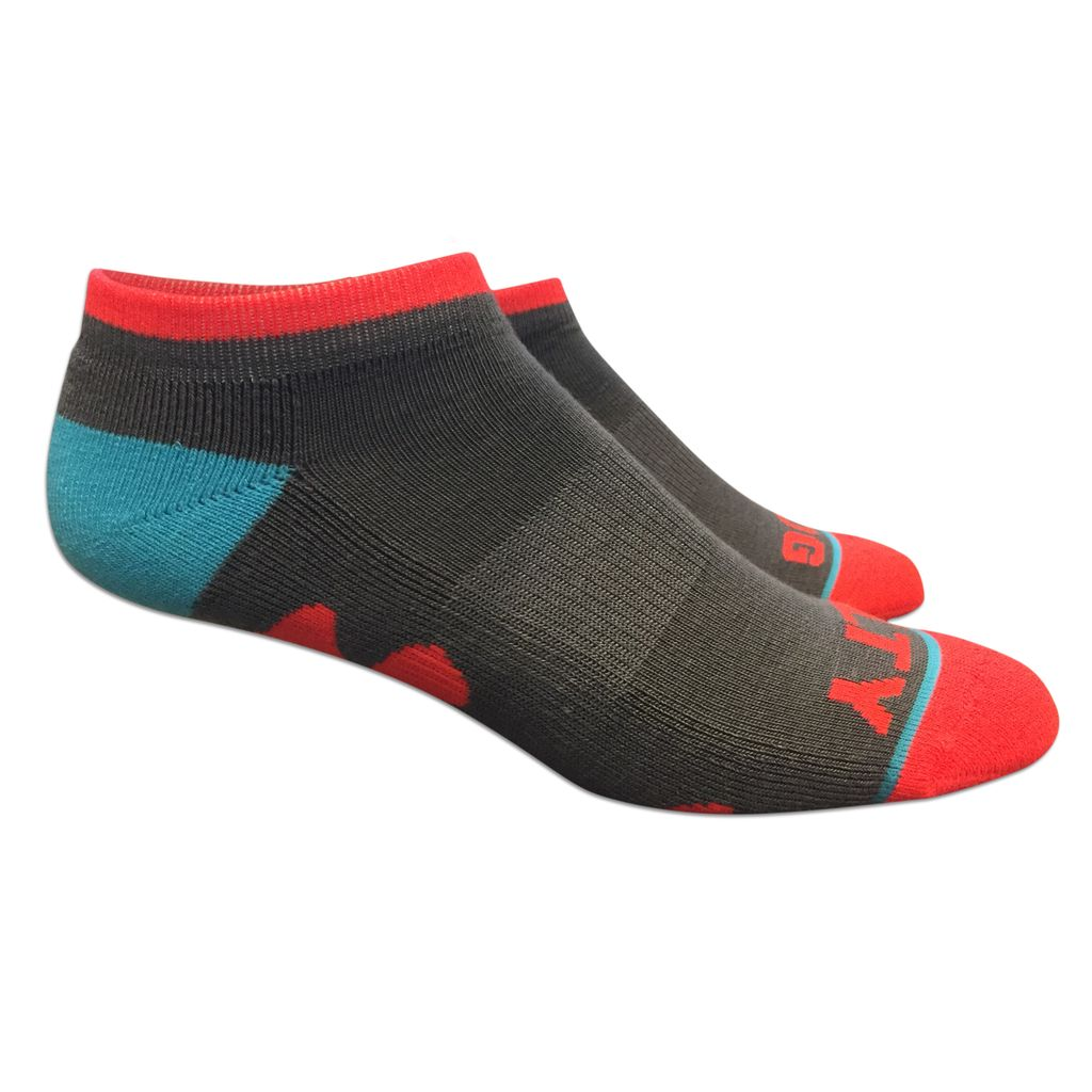 Fuel Low Cut Socks in Gray