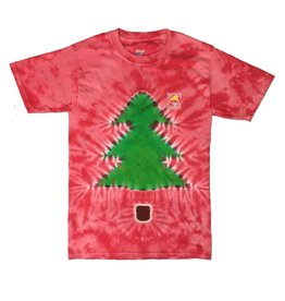 T-Shirt Red Tree Tie Dye Tee