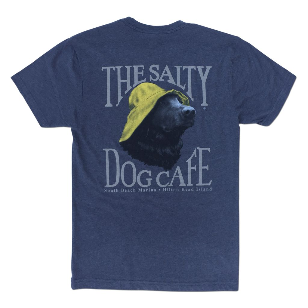 T-Shirt Portrait Dog Triblend Tee in Navy