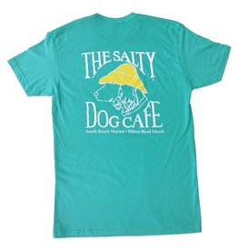 T-Shirt Sueded Tee in Tahiti Blue