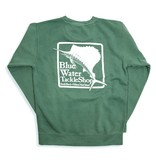 Comfort Colors Blue Water Stonewashed Sweatshirts in Light Green