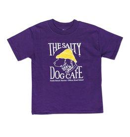 Hanes Hanes Beefy Youth Short Sleeve in Purple