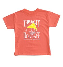 Hanes Hanes Beefy Youth Short Sleeve in Charisma Coral
