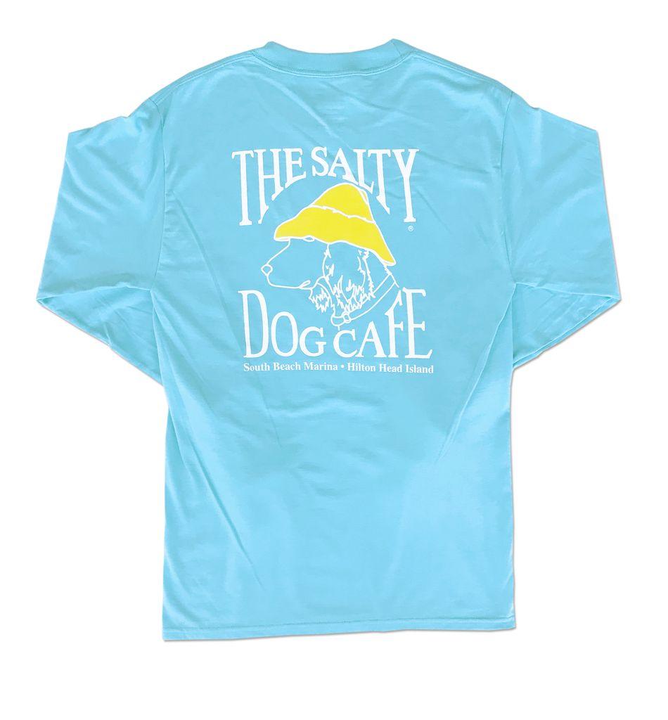 Hanes Hanes Beefy Long Sleeve Tee in Blue Horizon
