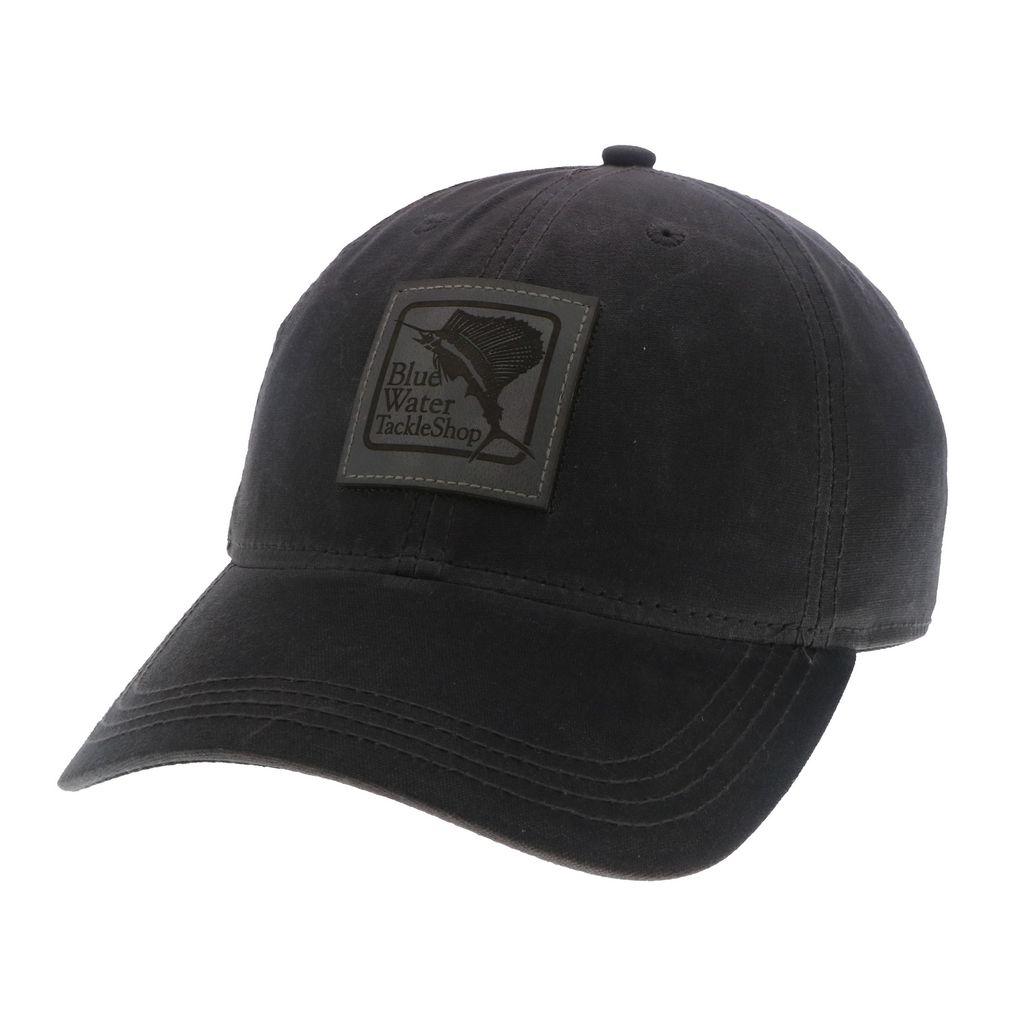 Hat Blue Water Wax Cotton Hat in Black