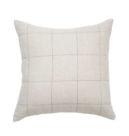 Natural Linen Grid Pillow