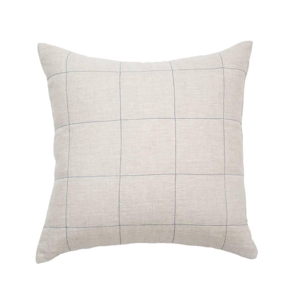 Natural Linen Grid Pillow