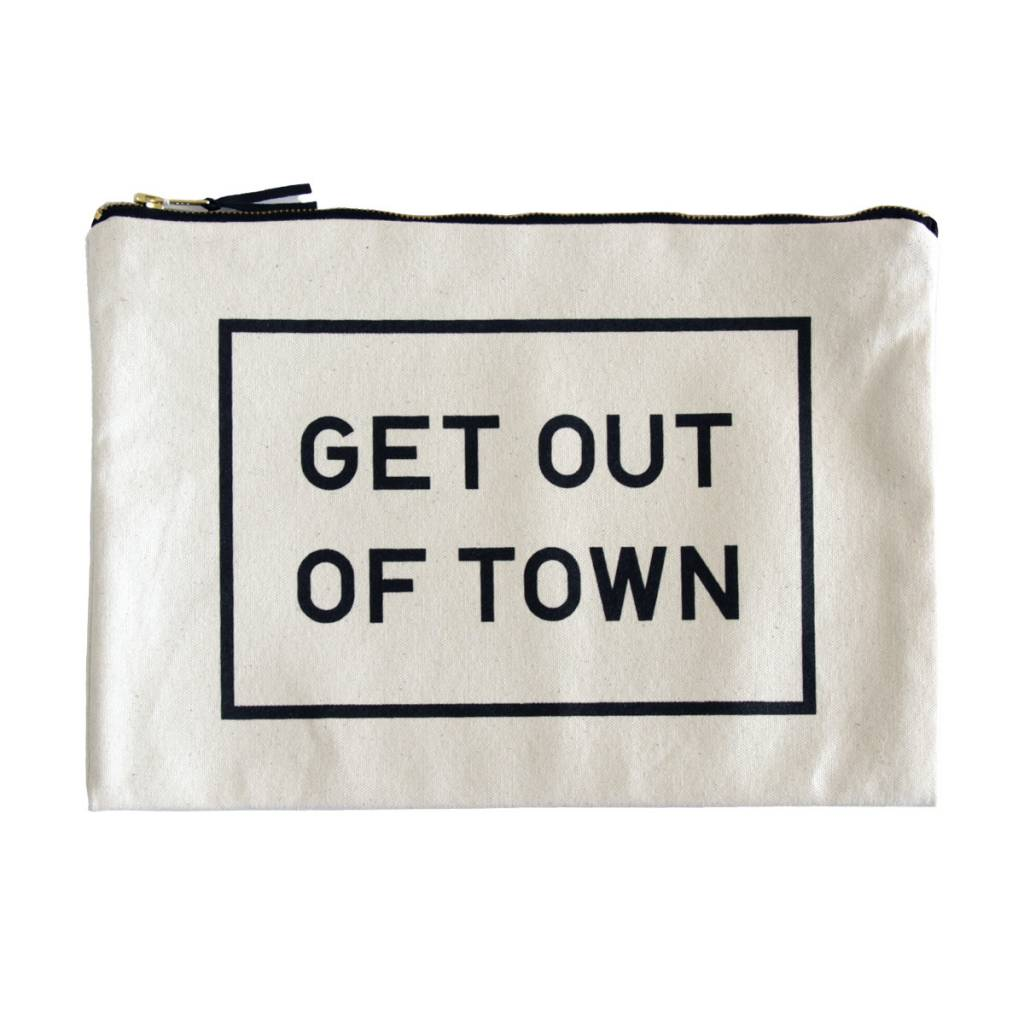 Get Out Of Town Canvas Pouch