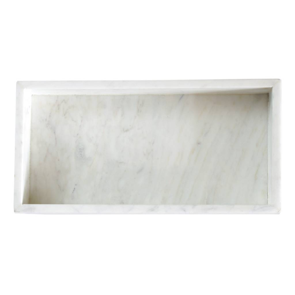 WALLED MARBLE TRAY