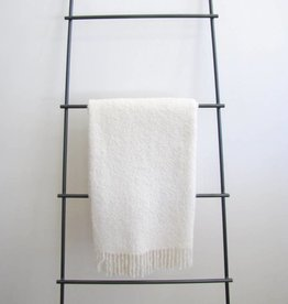 Alpaca Boucle Woven Throw - Ivory