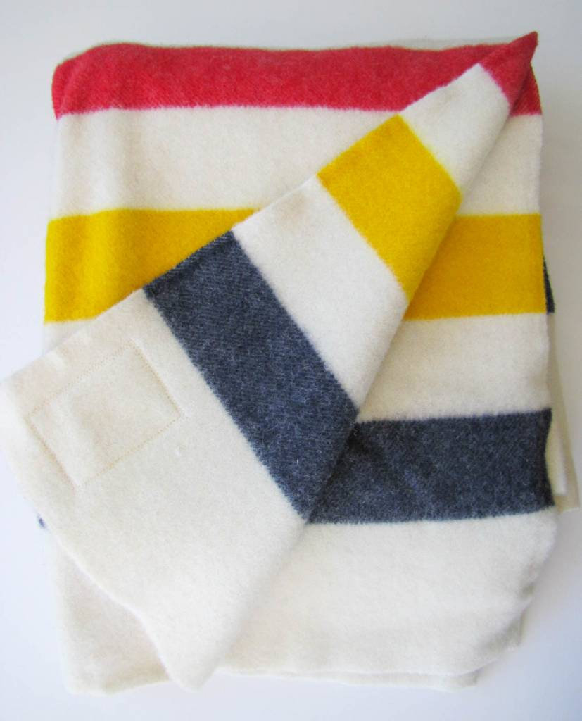 Hudson's Bay Multi Four Point Full Wool Blanket