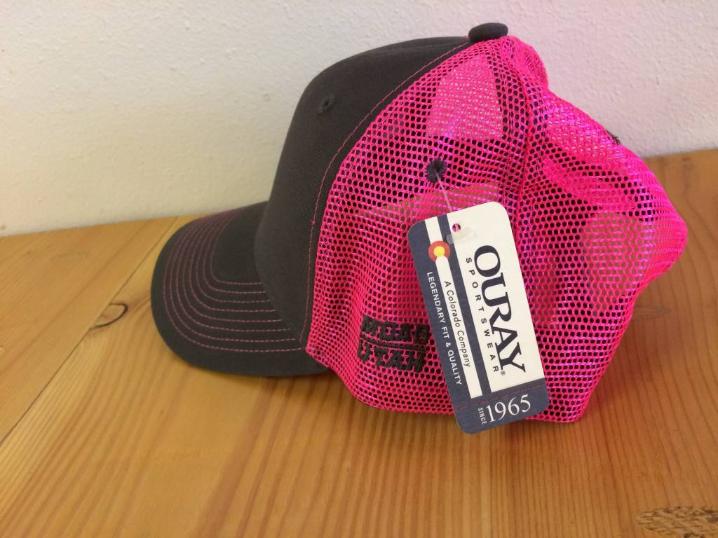 Ouray Bike Fiend Pink Baseball Cap