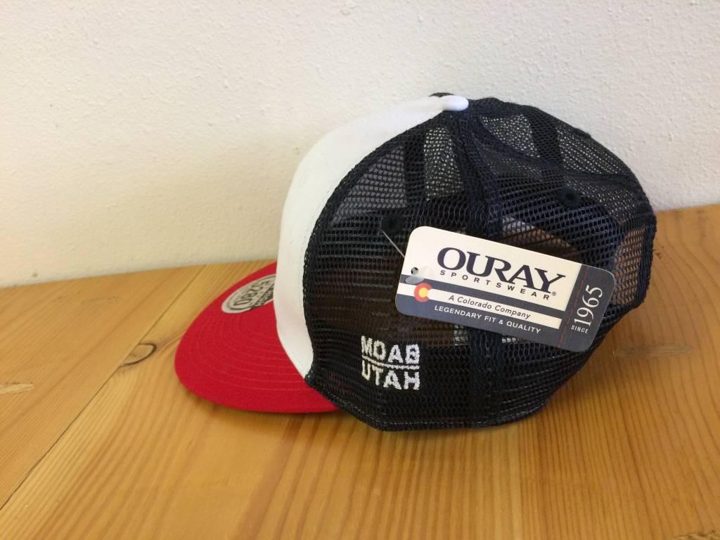 Ouray Bike Fiend White/Red/Navy Trucker Cap