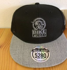Ouray Bike Fiend Black/Gray Trucker Cap