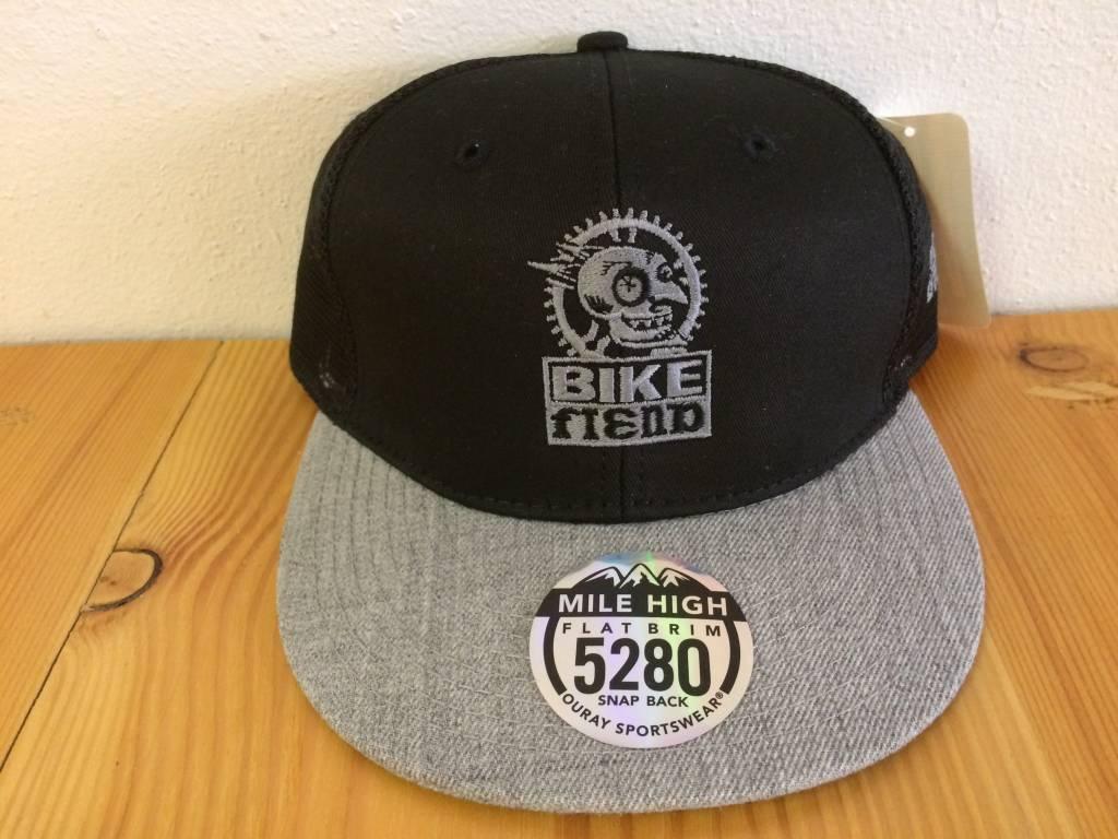 Ouray Bike Fiend Black/Gray Trucker Cap