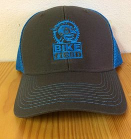 Ouray Bike Fiend Neon Blue Baseball Cap