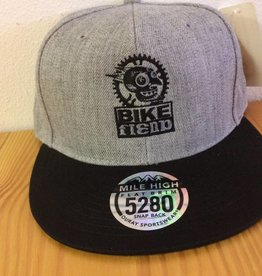 Ouray Bike Fiend Gray/Black Flatbill Cap