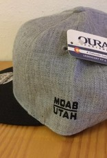 Ouray Bike Fiend Gray/Black Flatbill Cap