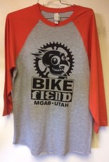 Ouray Bike Fiend Orange Baseball Tee