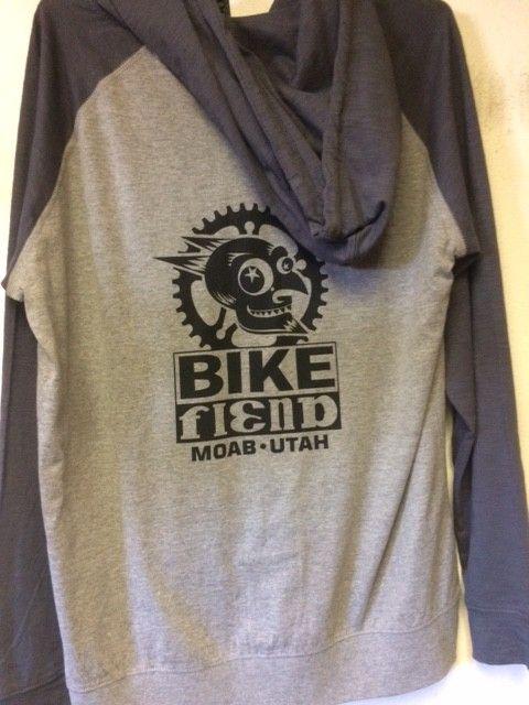 Ouray Bike Fiend Gray Zip Hood *Light*