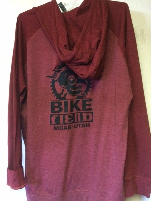 Ouray Bike Fiend Red Zip Hood *Light*