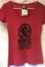 Ouray Bike Fiend Red Ladies Shirt