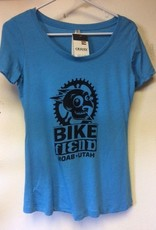 Ouray Bike Fiend Turquoise Ladies Shirt