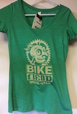 Ouray Bike Fiend Green Ladies Shirt