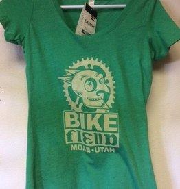 Ouray Bike Fiend Green Ladies Shirt