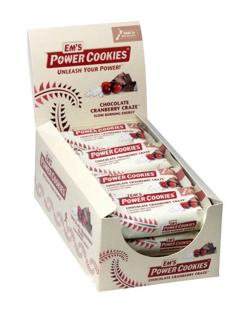 Em's Power Cookies EM'S Power Cookies Bar Chocolate Cranberry Craze box of 12