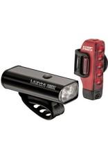 Lezyne Macro Drive 1100XL/Strip Pro USB LED 1100/300lm Light Set Black