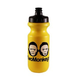 Two Monkeys Flow Water Bottle Yellow