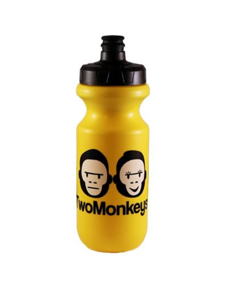 Two Monkeys Flow Water Bottle Yellow