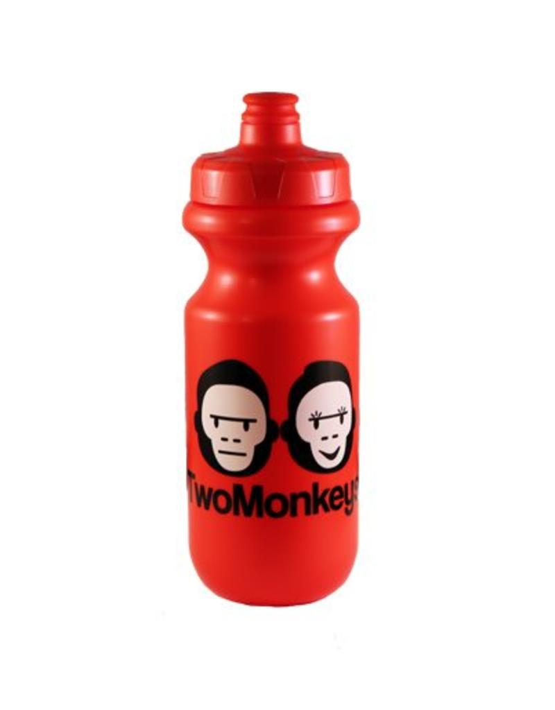 Two Monkeys Flow Water Bottle Red