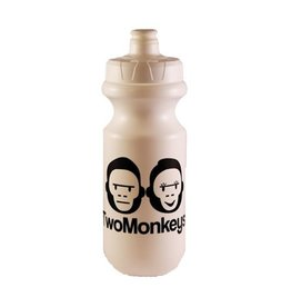 Two Monkeys Flow Water Bottle White