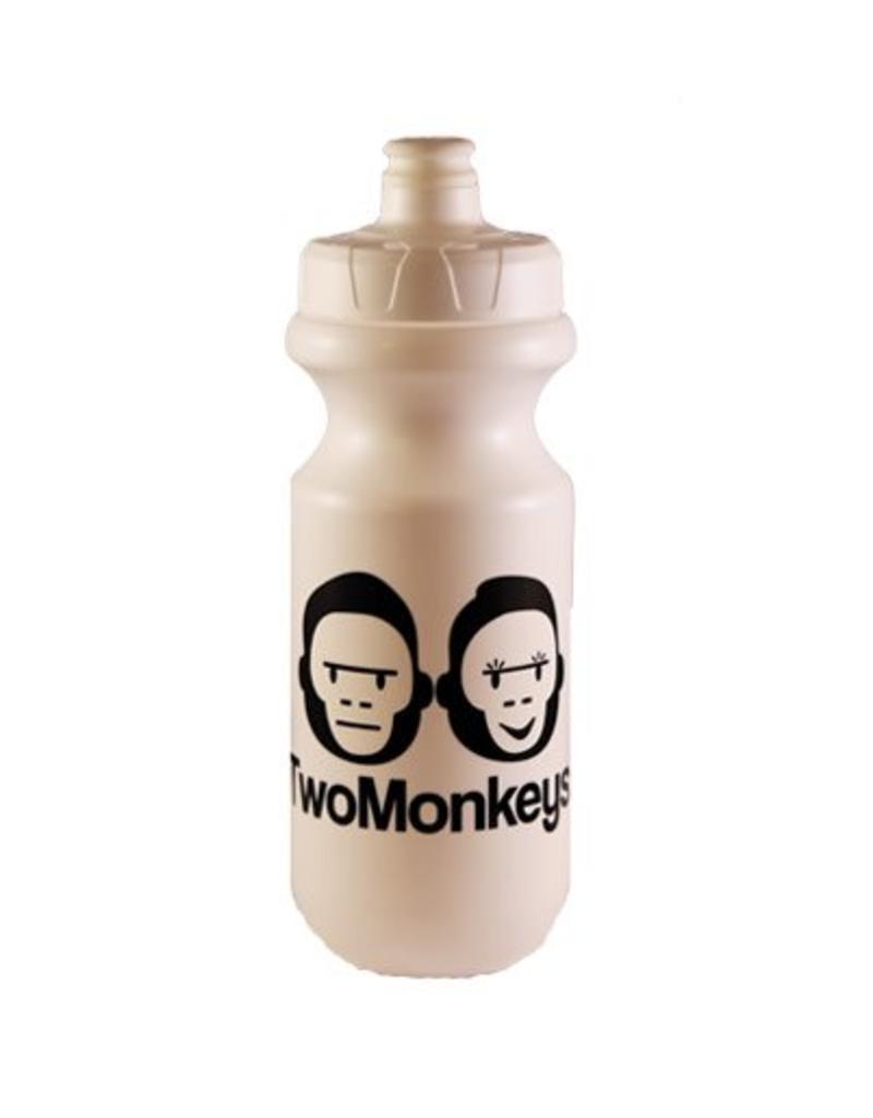 Two Monkeys Flow Water Bottle White