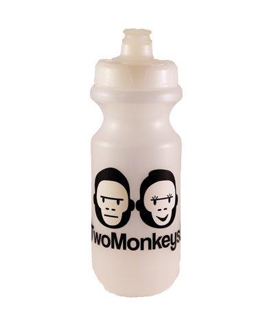 Two Monkeys Flow Water Bottle Clear
