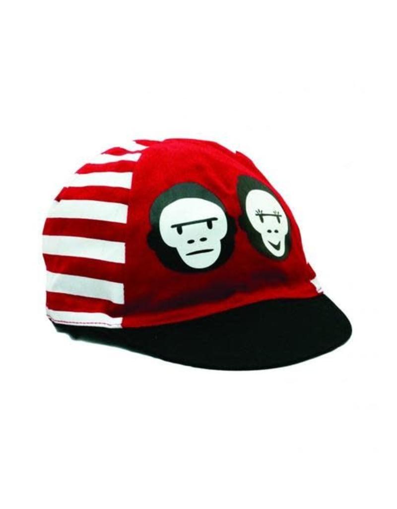 Two Monkeys Red Stripe Cap