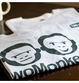 Two Monkeys shop tee - White