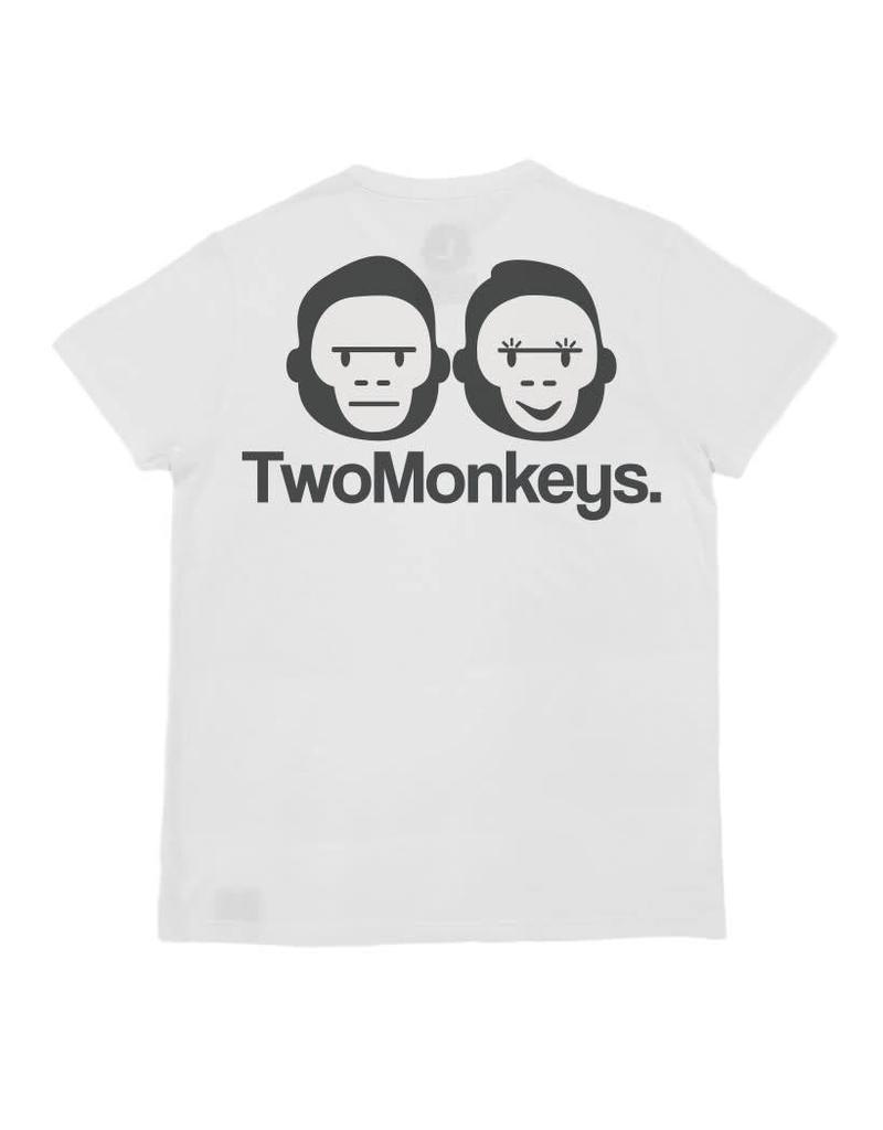 Two Monkeys badge tee - Grey