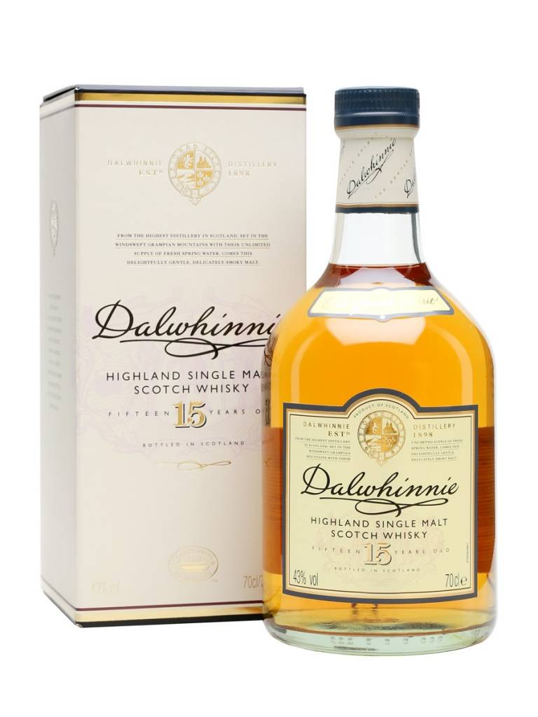 Dalwhinnie Dalwhinnie 15 Years Old Highland Single Malt Scotch Whisky, Speyside