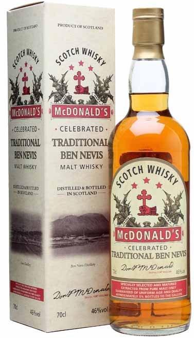 Ben Nevis Ben Nevis Mcdonald's Traditional NAS Single Malt Scotch Whisky, Highland