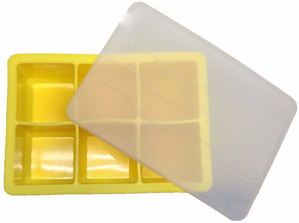 Cocktail Ice Cube Tray YELLOW 4.8 x 4.8cm