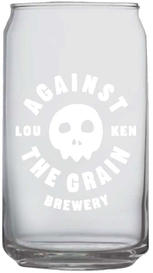 Against the Grain Against The Grain Beer Can Glass