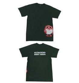 Hitachino Nest Hitachino Men's T-Shirt Green M Size