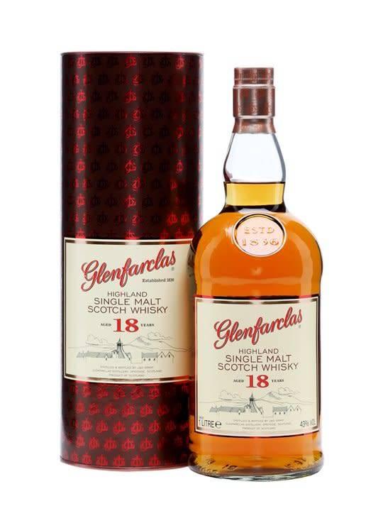 Glenfarclas Glenfarclas 18 Years Old Highland Single Malt Scotch Whisky 1L, Speyside